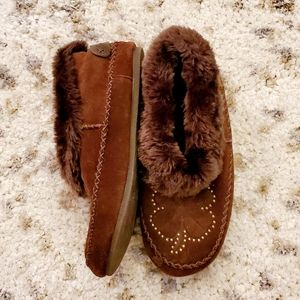 LUCKY BRAND | 🍀 fur lined suede moccasins
